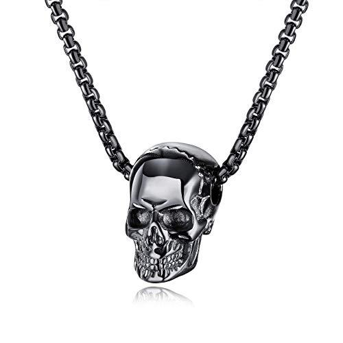 Qejuvt Fashion Titanium Steel Taroy Hombre Collar Hip Ciudad de Regalo Colgante de Hombre