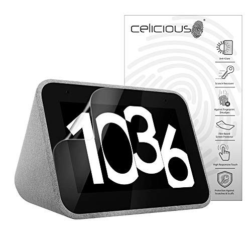 Celicious Matte Anti-Glare Screen Protector Film Compatible with Lenovo Smart Clock CD-24501F [Pack of 2]