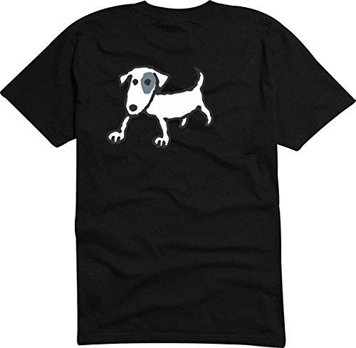 Black Dragon - T-Shirt D915 T-Shirt Herren schwarz XXL - Design Tribal Comic - Grafik Haustier Hund - rennender Kleiner Jack Russel Terrier - Fasching Party Geschenk Funshirt