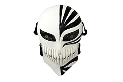 CLemon Airsoft Skull Face Mask - Full Face Protective Tactical Masks Gear for Airsoft Paintball Cs War Game - Cool Scary Ghost Halloween Mask