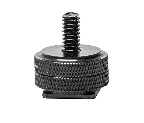 "ARKON SPSH1420 Camera Hot Shoe to 1/4""-20 Camera Bolt Pattern Adapter (Black)"