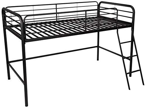 Amazon Basics – Hochbett aus Metall, Twin-Größe, einfache Montage, Schwarz