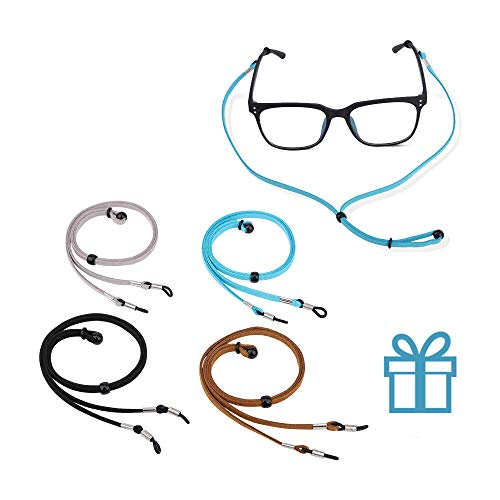 4PCS Eyeglasses Holder Strap Cord Chain, Premium Glasses Strap Cord Lanyard for Men Women Kids, Adjustable Eyewear Retainer for Glasses, Sunglasses, Prescription Glasses