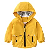 Famuka Chaquetas abrigos Ropa de abrigo Ropa para bebé Abrigo de chaqueta de bebé niño primavera otoño (Amarillo, 100, 18 meses)