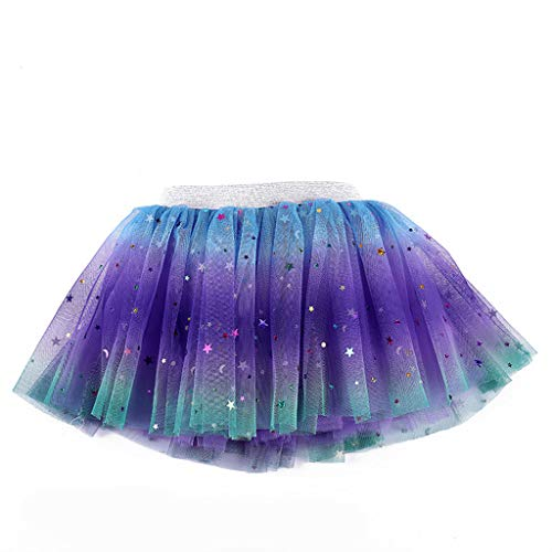JERKKY Tutu Rock 1 stuk kinderen meisjes prinses jurk regenboog pentagram pailletten verlooprooster rok party dancewear tutu ballet rok 1#