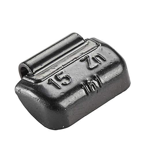 Hofmann Power Weight 100x Poids Marteau Noirs pour Jante en Acier 15g   Poids d'équilibrage Noirs   Poids d'équilibrage Jante en Acier Changement de pneus Voiture