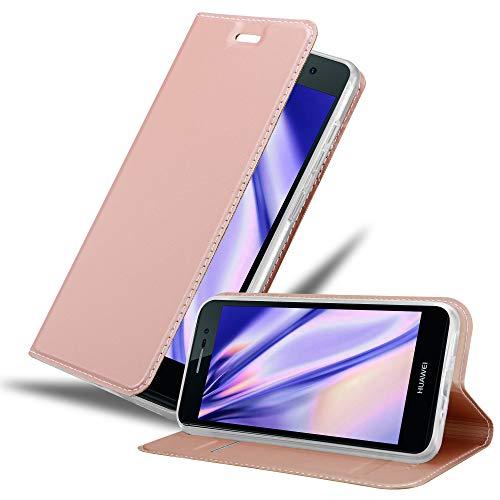 Cadorabo Funda Libro para Huawei P7 en Classy Oro Rosa - Cubierta Proteccíon con Cierre Magnético, Tarjetero y Función de Suporte - Etui Case Cover Carcasa