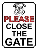 門を閉めてください 金属板ブリキ看板警告サイン注意サイン表示パネル情報サイン金属安全サイン