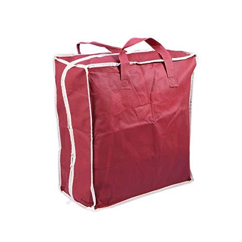 TOPBATHY Bolsa de Viaje para Almacenamiento de Zapatos Bolsa de Viaje portátil con Organizador de Bolsas (Rojo Vino)
