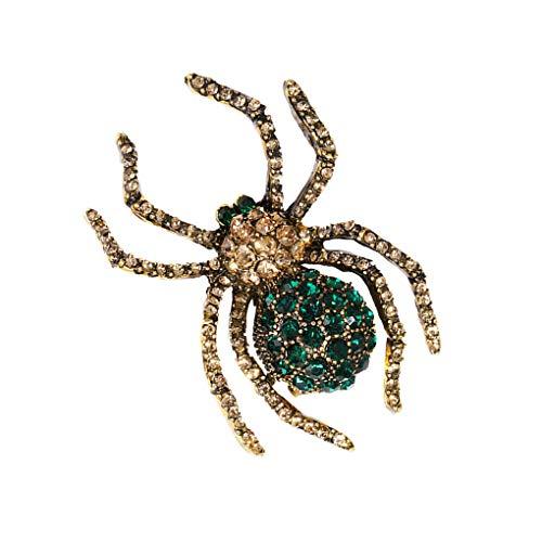 Morza Frauen-Retro- Rhinestone-Spinnen-Brosche Tier-Kleidung Pullover Brosche Mädchen Legierung Corsage