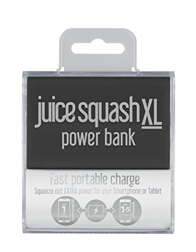Juice Squash XL Fast Charge Mini-powerbank, Squash XL, zwart