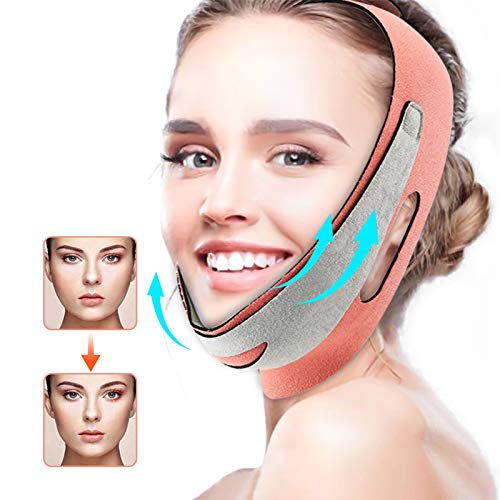 Face Slimming Strap, Reusable Double Chin Reducer Strap, Pain-Free Facial Chin Slimmer Device, V-Line Face Lifting Bandage for Anti Wrinkle Eliminates Sagging Anti Aging Breathable Face Shaper Band