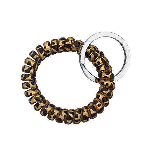 AKTAP Spring Spiral Coil Keychain Bracelets Coil Wrist Keying Stretchy Keychain for Pool Gym Shopping ID Badge Outdoor Sports Jewelry (Spring Coil Bracelet)