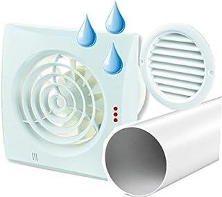 Ventilador Extractor Quiet con higrostato en Juego, incluye