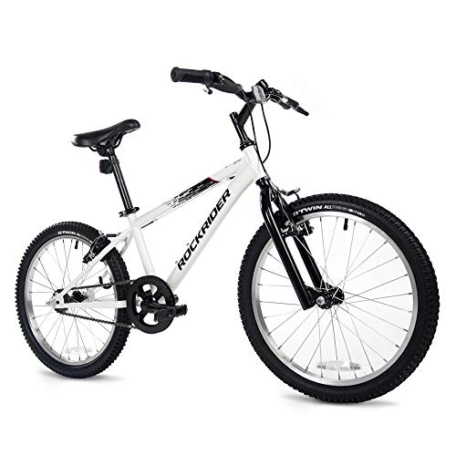 Lek Store Kids Mountain Bike 20 inch Wheels, White, Sports & Outdoors A Sturdy, Single-Speed, Bikes That's Simple to Ride. Equipped with Front and Rear Lights and a Bell.