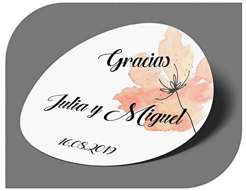 CrisPhy - Adesivi Personalizzati per Matrimonio con Nome e Data, Etichette adesive per invito, Matrimonio, Battesimo, Fidanzamento, Compleanno, Festa, Natale, Vintage