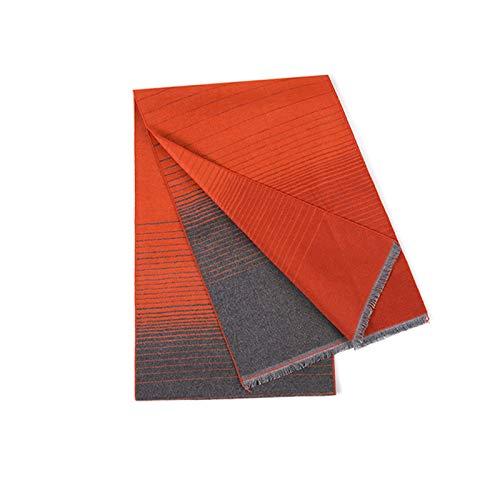 Schals Luxuriöse Silk Samt Schal Art und Weise Allgleiches Schal for Männer und Frauen, warme und weiche Schale (Short Troddel-Art) Warmer Schal (Color : Orange)