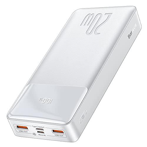 Baseus Power Bank, 20W PD3.0 QC4.0 Ricarica Rapida Powerbank 20000mAh USB C Caricatore Portatile con LED Digitale Display, 2 Ingressi e 3 Uscite per iPhone 13 12 11 Pro Max iPad Samsung Huawei Xiaomi