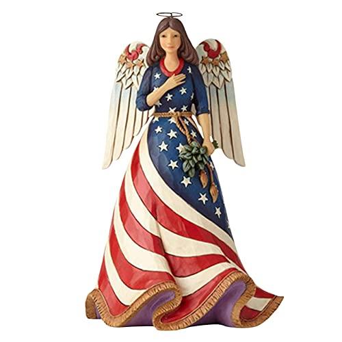 HEYJUDY Estátua de jardim de resina dos anjos querubins para decoração de jardim, decoração de casa, estátua memorial de escultura de anjo adorável para casa e jardim