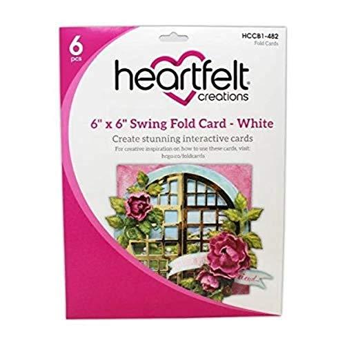 Heartfelt Creations Kreise Karte Swing, Weiß