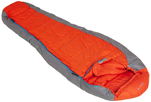 Vaude Schlafsack Daune Cheyenne 500, Orange, Left, 11368