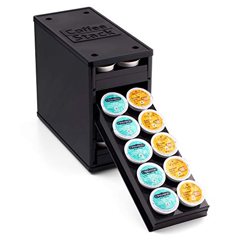 YouCopia CoffeeStack 40 K-Cup Cabinet Organizer, One Size, Black