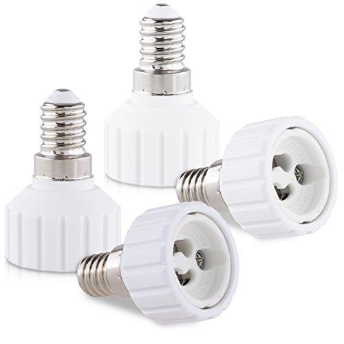 kwmobile 4X Casquillos de lámpara - Adaptador conversor de Montura E14 a...