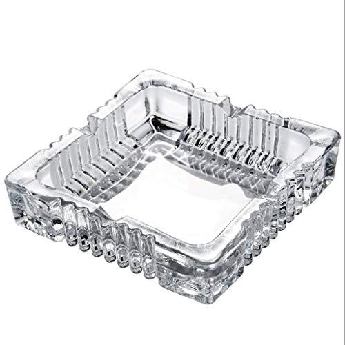 Cenicero Portatil,cenicero de regalo cenicero de cristal, grande, mediano y pequeño, cenicero de escritorio para fumar para interior, exterior, regalo para hombres y mujeres (tamaño: grande)