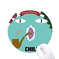スモーキーキャット クリスマスツリーの滑り止めゴム形のマウスパッド