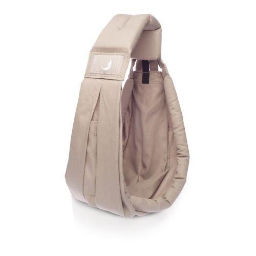 BabaSlings Classic - Bandolera portabebé de algodón orgánico, color marrón arena