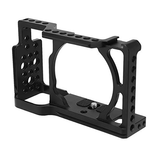 Haoge CC-S6 Camera Cage for Sony Alpha a6500 a6400 a6300 a6000 ILCE-6500 ILCE-6400 ILCE-6300 ILCE-6000 4K Digital Mirrorless Camera Built-in Cold Shoe, Arca Swiss Plate and NATO Rail