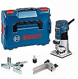 Bosch Professional 060160A102 GKF 600, W, 230 V, Negro/Azul/Acero Inoxidable