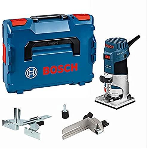 Bosch Professional Affleureuse GKF 600 (600 W, Régime à vide : 33000 tours/min, Ø pince de serrage : 6/8 mm, L-BOXX)