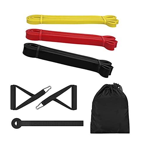 YINZHI Fitness-Band Ziehen Sie elastische Bänder Gummi-Widerstandsschleifen-Stromband Home Gym Workout Expander stärken Training (Color : 3 pcs A with Handle)