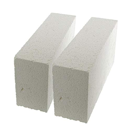 WireJewelry Medium Duty Insulating Fire Brick, Rated Up to 2600 Degree Fahrenheit - 2 Pack