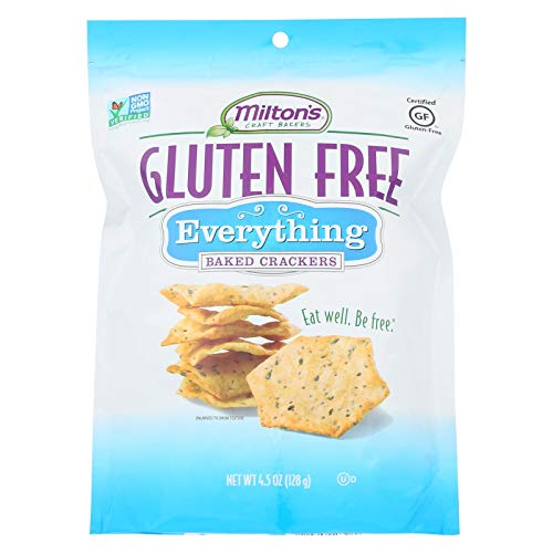 Miltons Gluten Free Baked Crackers - Everything - Case of 12 - 4.5 oz
