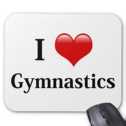 Accesorios de ordenador anti-fricción pulsera I Love Gymnastics Mouse Pad 18X22