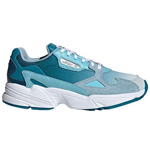 Adidas Falcon W, Zapatillas de Deporte para Mujer. Sneaker (39 EU, Blue Tint/Light Aqua)
