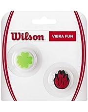 Wilson Vibra Fun WRZ537100 Vibratiedemper, voor tennisrackets, 2-pack, rood/zilver
