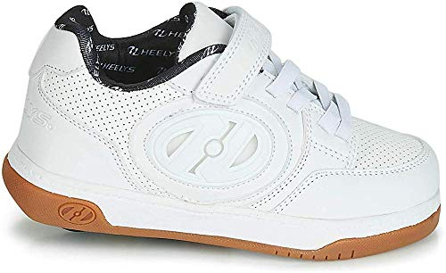 Heelys Jungen Unisex Kinder Plus X2 Lighted (He100465) Skateboardschuhe, Mehrfarbig White White Gum 000, 33 EU