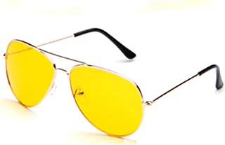 Fashion Glasses Fashion Sunglasses Yellow Film Night Vision, Yellow, Size 18CM