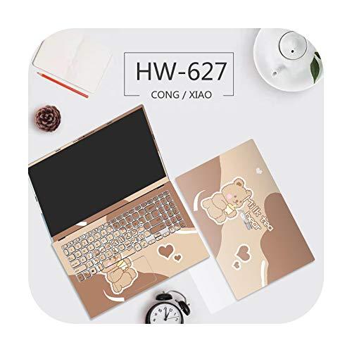 Cute Bear Cover Laptop Sticker PVC Waterproof Notebook Skin Waterproof Scratch Resistant for Asus A456U/A550Z/ A555L / X503M etc-HW-627Message model-A555B