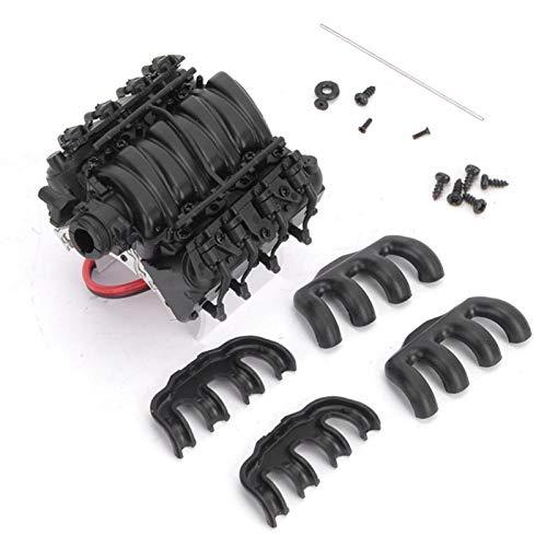 1/10シミュレーションエンジンクーラー耐久性のあるプロフェッショナルCアクセサリtrx4 / scx10 / scx10II用温度センサー付き高速ファン(black)