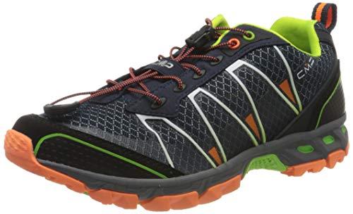 CMP – F.lli Campagnolo Herren Altak Trail Shoe Traillaufschuhe, Mehrfarbig (Navy-Mint-ORANGE Fluo 97BD), 42 EU