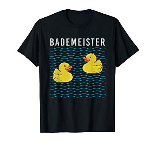 Gelbe Quietscheente Gummiente Bademeister Kindheits TShirt T-Shirt