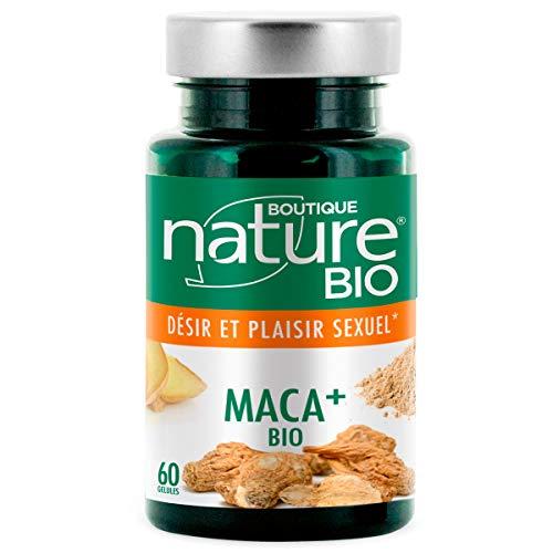 Boutique Nature - Complément Alimentaire - Maca + BIO - 60 Gélules Végétales - Stimule le Désir sexuel