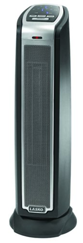 Lasko 5790 Oscillating Ceramic Tower Heater with Remote Control,Black 5790