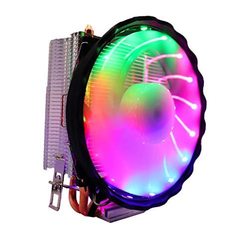 KESOTO Ventilador Silencioso 120 Mm LED RGB CPU Cooler Sink para Intel Socket LGA 1156