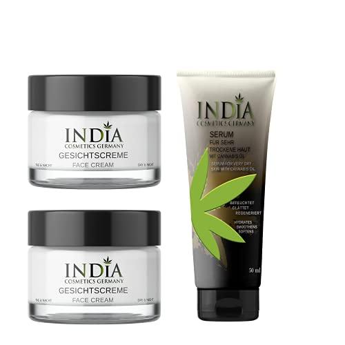 Nuove! Doppio pacchetto di crema per il viso con olio di cannabis idratante di alta qualità per il giorno e la notte per la pelle secca e matura e per la psoriasi