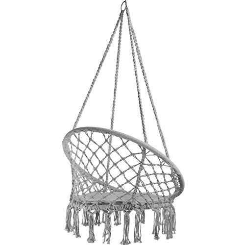 RNICE Hanging Chair Seat Swing Hammock Macrame,Hanging Cotton Rope Swing Chair for Indoor Outdoor Home Patio Garden